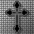 Christian cross illustration of the as a religious background Stock Photo