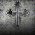 Christian cross illustration of the as a religious background Royalty Free Stock Photos