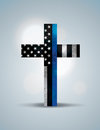 Christian Cross Law Enforcement Support Symbol Royalty Free Stock Photo