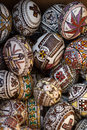 "Christian easter eggs romanian traditional here are the decorated in romanian they are called ""oua incondeiate"" ""oua Stock Photos"