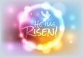 Christian Easter Risen Illustration Royalty Free Stock Photo