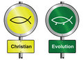 Christian and Evolution Royalty Free Stock Images
