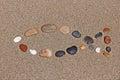 Christian fish symbol christianity religious shape made of pebbles catholicism ichthus Royalty Free Stock Image