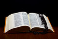 Christian Holy Bible with Cross Stock Images