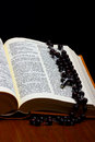Christian Holy Bible with Cross Royalty Free Stock Photos