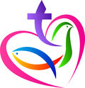 Christian love symbol Royalty Free Stock Photo