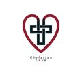 Christian Love and True Belief in God vector creative symbol des