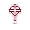 Christian Love and True Belief in God vector creative symbol