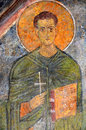 Christian martyr magnificent sixth century fresco of an early from the byzantine church of st nicholas in demre turkey Stock Photos