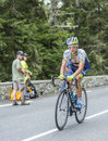 Christian Meier on Col du Tourmalet - Tour de France 2014 Royalty Free Stock Photo