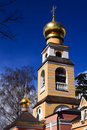 Christian ortodoxal domes of temple. Spaso-Preobra Stock Photography