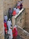 Christian pilgrims jerusalem in Royalty Free Stock Photos