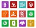Christian religion icons Imagen de archivo libre de regalías