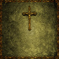 Christian religious background motif with jesus in the cross Stock Photography