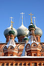 Christian Russian church Stock Photo