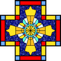 Christian symbol in stained glass Royalty Free Stock Photography