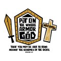 Christian Typography, Lettering And Illustration. Put On The Whole Armor Of God