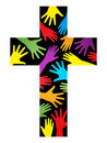 Christian unity cross Stock Images
