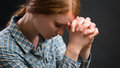 Christian Woman Praying Royalty Free Stock Photo