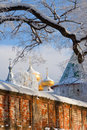 Christianity  cathedral in Russia, Kostroma city, Ipatievsky monastery Stock Image