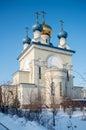 Christianity church in chelyabinsk Royalty Free Stock Image