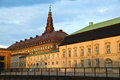 Christiansborg palace copenhagen denmark at sunset Royalty Free Stock Photo