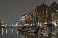 Christianshavn canal evening Royalty Free Stock Photography