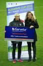 Christie rampone awarded best international player s algarve cup didnt play final estadio algarve march Stock Photos