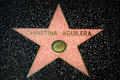 Christina Aguilera Star on the Hollywood Walk of Fame Royalty Free Stock Photo