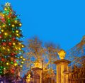 Christma tree with old gateway Royalty Free Stock Photo