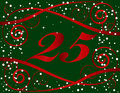 Christmas 25 Background Royalty Free Stock Photo