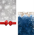 Christmas abstract banners winter background with snowflakes and sparkles Royalty Free Stock Image