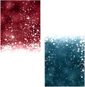 Christmas abstract banners winter background with snowflakes and sparkles Stock Photo