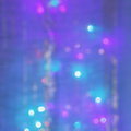 Christmas abstract blue background stock photos gold purple turquoise blurred lights on holiday night bokeh Royalty Free Stock Photos