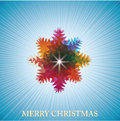 Christmas abstract card with colorful snowflake Royalty Free Stock Photography