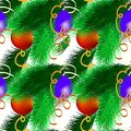 Christmas abstract decorative seamless fabric texture Wallpaper festive background Royalty Free Stock Photo