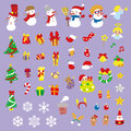 Christmas adornment sticker and vector illustration Royalty Free Stock Photo