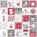 Christmas advent  calendar. Countdown till Christmas kit Royalty Free Stock Photo
