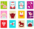Christmas Advent Calendar elements 2 Royalty Free Stock Photos