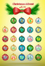 Christmas advent calendar vector illustration Royalty Free Stock Photo