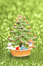 Christmas advent time figure with sparkeling background Stock Photography