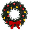 Christmas advent wreath isolated on white illustration of backround Royalty Free Stock Photo