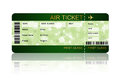 Christmas airline boarding pass ticket isolated over white Royalty Free Stock Photo