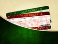 Christmas airline boarding pass tickets in pocket dark Royalty Free Stock Image