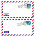 Christmas airmail envelope Royalty Free Stock Image