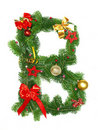 Christmas Alphabet Letter B Stock Photography
