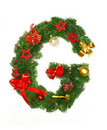 Christmas Alphabet Letter G Royalty Free Stock Photo