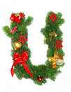 Christmas Alphabet Letter U Stock Photos
