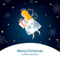 Christmas angel card Royalty Free Stock Image