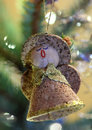 Christmas angel figure of an decorating a tree Stock Image